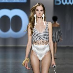 RONI 2018 Women new  sexy bikini lady striped conservative swimsuit 01 s