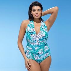 RONI 2018 New lady  swimsuit women  independent bra lattice printing bikini 01 xl