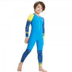 RONI 2018 New baby boy  diving suit girl kids sun-resistant quick-drying cute printing swimsuit 01 s