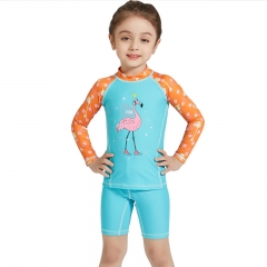 RONI 2018 New Baby Girl  Separate Swimsuit Kids Sweet diving suit 01 s