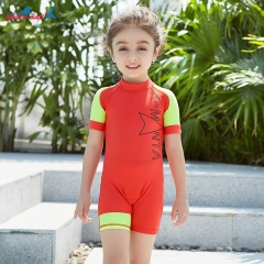 RONI 2018 New boys and girls conjoined swimsuit children diving suit 01 s