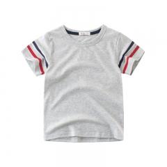 RONI Summer Baby Boy Short Sleeve T-shirt  Kids 100%Cotton Striped Tops 01 110cm 100% cotton