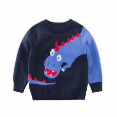 RONI Fall 2-10 years old baby boy clothes kids round collar dinosaur sweater 01 90cm