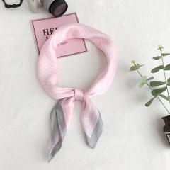 RONI Summer women  small square scarf simulation silk Stripe small headscarf bag accessories 03