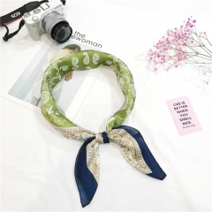 RONI Summer Women's Fashion scarf  Simulation Silk Retro Printed headscarf  Bag Accessories 02