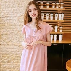 RONI Summer lady imitation silk pajamas girl cute nightgown women home clothes 01 m