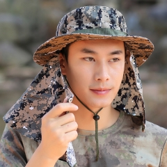 RONI Summer men camouflage fisherman hat  Wind and sun protection  climbing cap 01 all code
