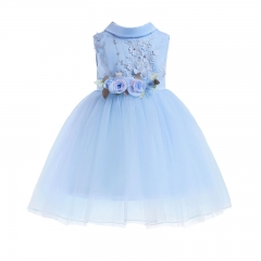 RONI Girl Princess Dress  Flower Girl Lace Dress Kids Wedding dress Birthday Party Stage Dress 01 100cm