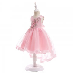 RONI Girl Exquisite  Princess Dress  Flower Girl Lace Dress Kids Party Stage Dress Wedding Dress 01 100cm