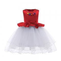 RONI Girl  princess dress kids colored ball gauze dress  birthday party  wedding dress 01 100cm