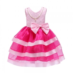 RONI Girl sweet princess dress kids pearl lace dress birthday party stage dress wedding dress 01 150cm