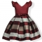 RONI Girl temperament stripes princess dress kids birthday party stage dress wedding dress 02 120cm