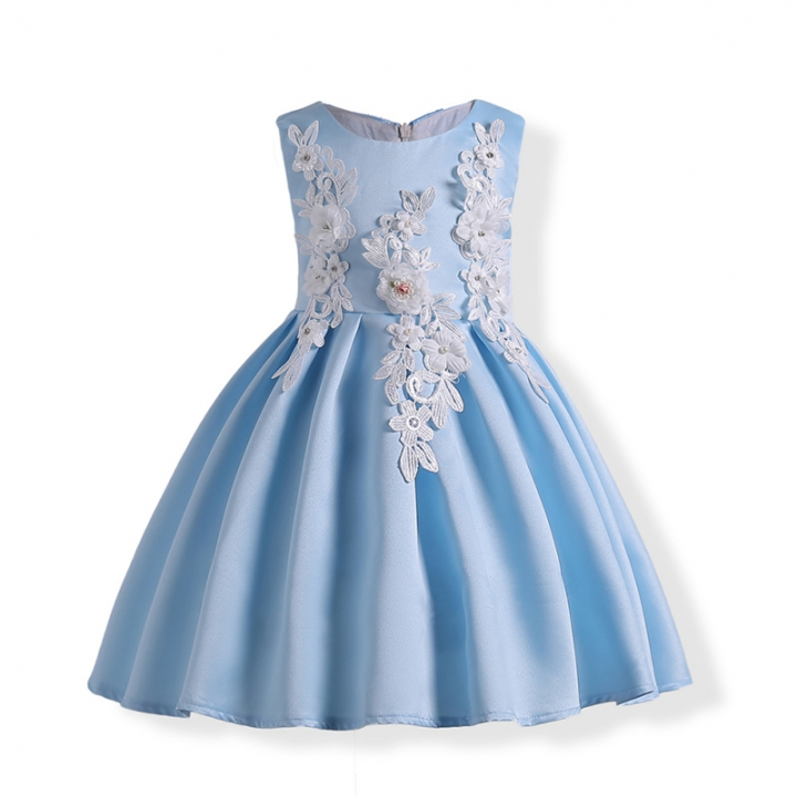 de3efcf166 RONI Girl exquisite princess dress flower girl dress kids birthday party  dress wedding dress 01 130cm