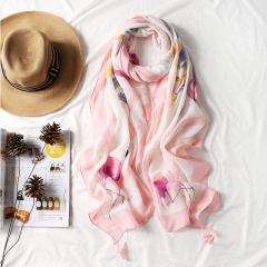 RONI Ladies long scarf  women fashion printed scarves sun-resistant  shawls 01