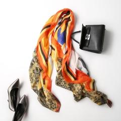 RONI Ladies temperament  Imitation silk scarf  women  geometric printing scarves  shawls 01