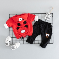 RONI Autumn baby boy 100% cotton clothes suit girl  cute cubs three-piece set kids clothing 01 80/s