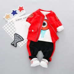 RONI Autumn baby  boy 100% cotton clothes suit girl  casual wear three-piece sets kids clothing 01 80/s
