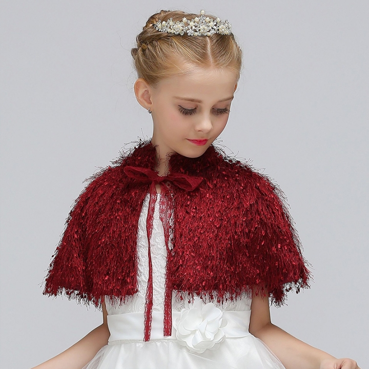 3cbfc2f89 Kilimall  RONI 2018 Autumn and Winter New Girls Dress Shawl Flower ...
