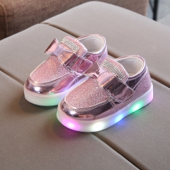 RONI Autumn  girl fashion casual shoes princess shoes  kids LED flash board shoes 01 21