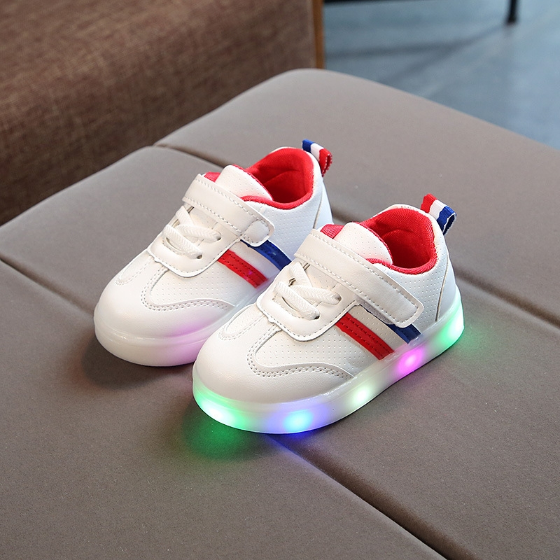 RONI Spring Baby boy fashion light board shoes casual shoes girl kids LED  flash sneakers 01 27