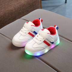 cd03b06f9 RONI Spring Baby boy fashion light board shoes casual shoes girl kids LED  flash sneakers 01