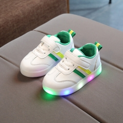 RONI Spring Baby boy fashion light board shoes casual shoes girl kids LED flash sneakers 03 23