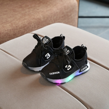 568c8c1d5 RONI Spring Baby boy glowing mesh shoes casual shoes girl kids LED flash  sneakers 02 27