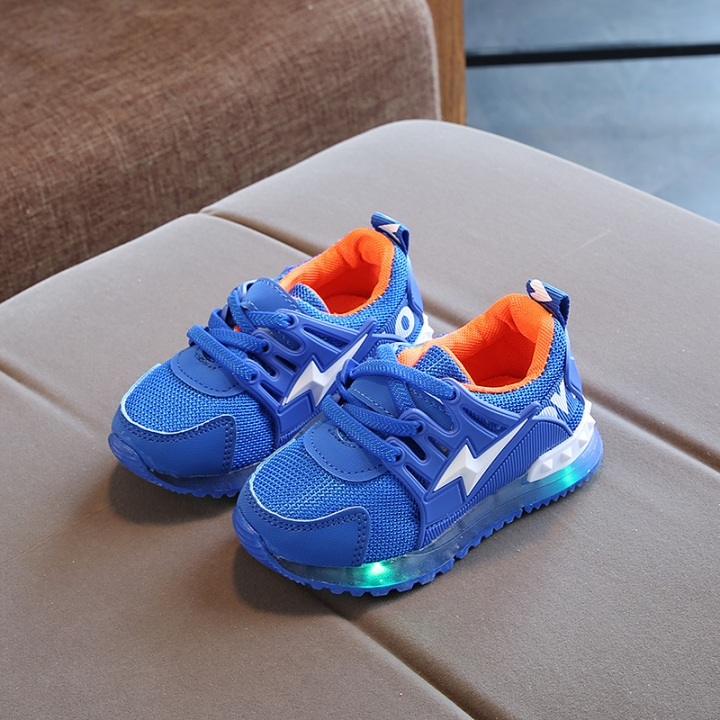 RONI Baby  boy fashion glowing Classic  casual shoes girl  kids LED flash sneakers 01 27