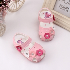 RONI Summer girl sandal glowing  walking shoes baby cute flower princess shoes 02 17