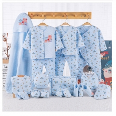 RONI Fall baby girl 19-piece set  newborn 100% cotton clothes suit  boy clothes and  accessories set 01 59cm