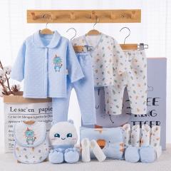 RONI Autumn and winter  newborn 18-piece Set 100% cotton clothes suit ,clothes with accessories set 01 59cm