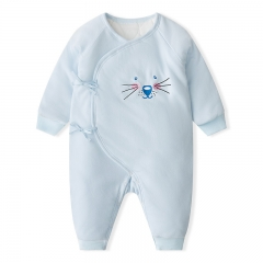 RONI Baby girl warm cotton-padded clothes newboorn thick 100% cotton jumpsuit boy crawl suit 01 52cm