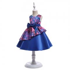 RONI Girl Irregular Princess Skirt Flower Girl Temperament Dress Birthday Party Stage Dress 01 110cm