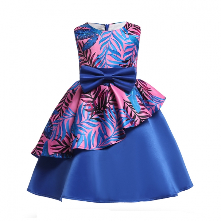 RONI Girl Irregular Princess Skirt Flower Girl Temperament Dress Birthday Party Stage Dress 01 120cm