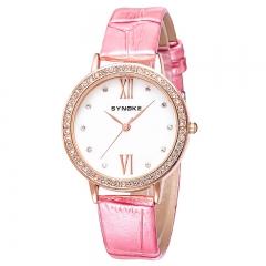 RONI Ladies fashion diamond watch quartz watch business leather watch fashion accessories 01 all code