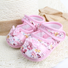 RONI Spring and autumn non-slip baby  walking shoes girl soft-sole shoes princess shoes 01 14