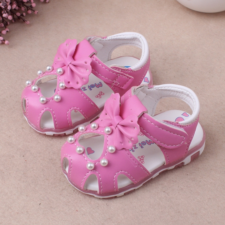 RONI Summer girl sandal glowing walking shoes baby cute flower princess shoes 03 15