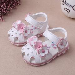 RONI Summer girl sandal glowing walking shoes baby cute flower princess shoes 01 15