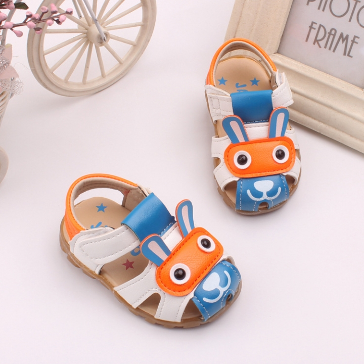 RONI Summer baby  sandal  boy kids glowing walking shoes soft-soled shoe 01 16