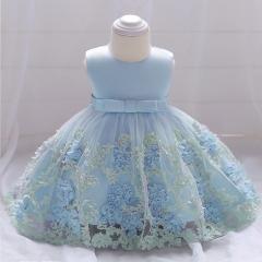 RONI Girl Flower Princess Skirt Flower Girl Lace Dress Baby Wedding dress Birthday Party  Dress 02 70cm