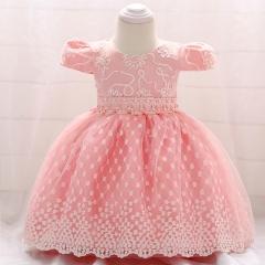 RONI Baby Girl Princess Skirt Flower Girl Pearl Dress Kids Wedding Dress Birthday Party Stage Dress 01 70cm