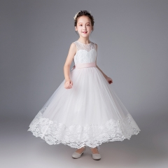 RONI Baby Girl Lace Princess Skirt Flower Girl Dress Kids Wedding Dress Birthday Party Stage Dress 01 110cm