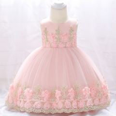 RONI Baby Girl Lace Princess Skirt Flower Girl Dress Kids Wedding Dress Birthday Party Stage Dress 01 80cm