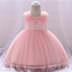 RONI Baby Girl Lace Princess Skirt Flower Girl Dress Kids Wedding Dress Birthday Party Stage Dress 01 70cm