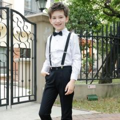 RONI Boy  Western suit wedding  performance clothes suit kids pants+shirt+tie+strap four-piece set 01 100