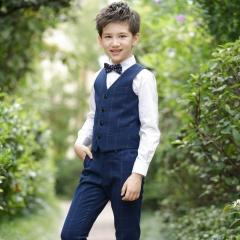 RONI Boy Western suit wedding performance clothes suit kids vest+shirt+pants+tie four-piece set 01 100
