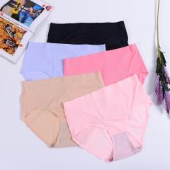 RONI 5PCS  Ladies comfortable midwaist underwear pregnant women briefs 5 colors L