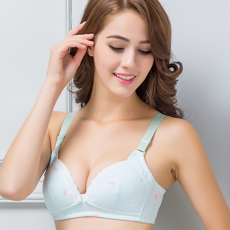 bc5f2d253562b RONI 2pcs 2018 Lady cotton sweet lactation bra women gravida underwear 2  colors 75b  Product No  2895466. Item specifics  Brand