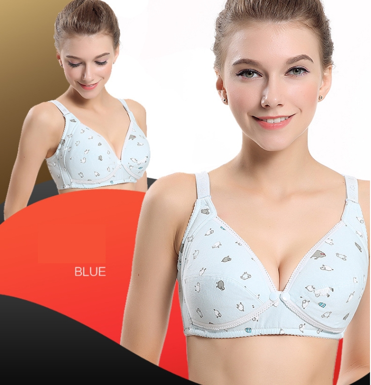 0e9f5af10dafb RONI 2pcs 2018 Lady cotton cute lactation bra women gravida ...
