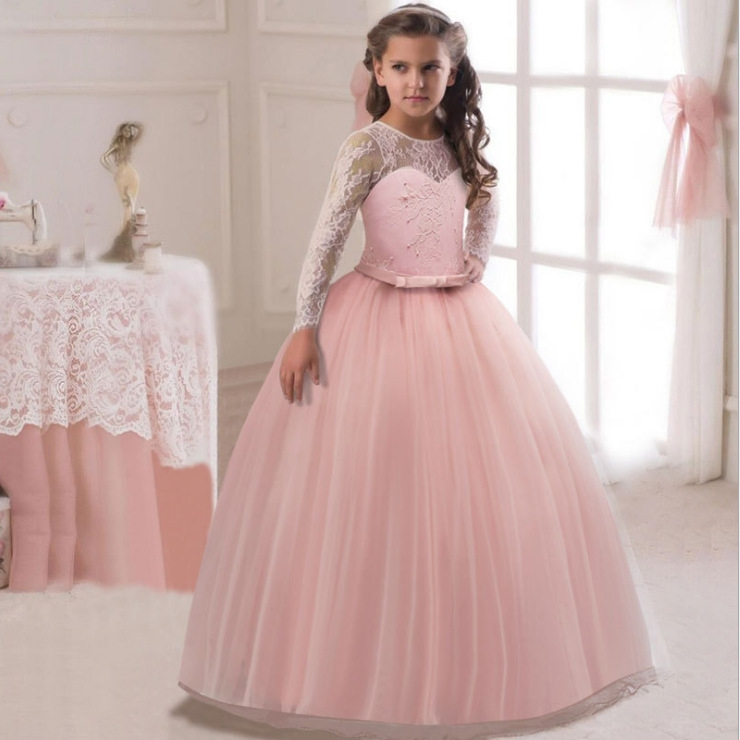022dd2c0b RONI Girl lace dress kids wedding dress flower girl dress birthday ...